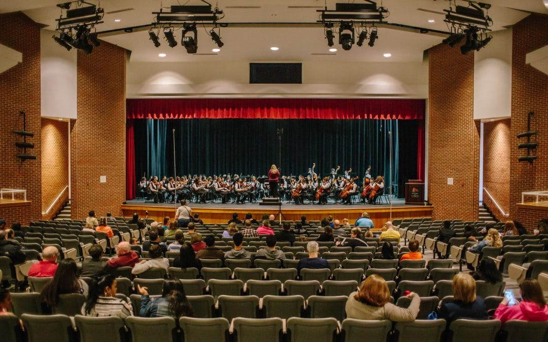 Dr. Kinsey Edwards on the Crews Middle School Orchestra
